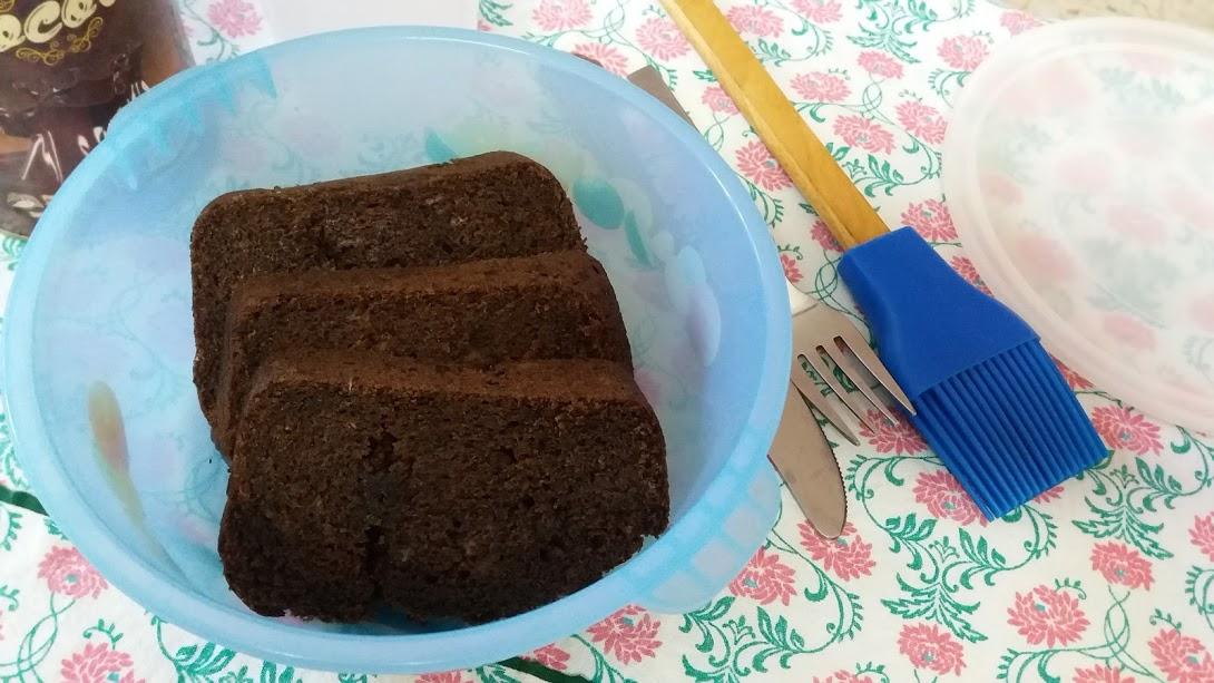 WHOLE WHEAT CHOCOLATE BANANA CAKE(EGGLESS)