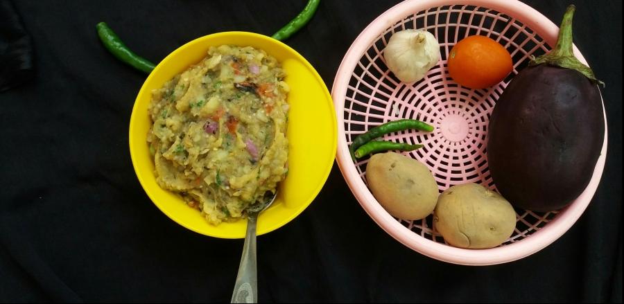 Baigan aur Aloo ka chokha/bharta/How to make baigan kabharta