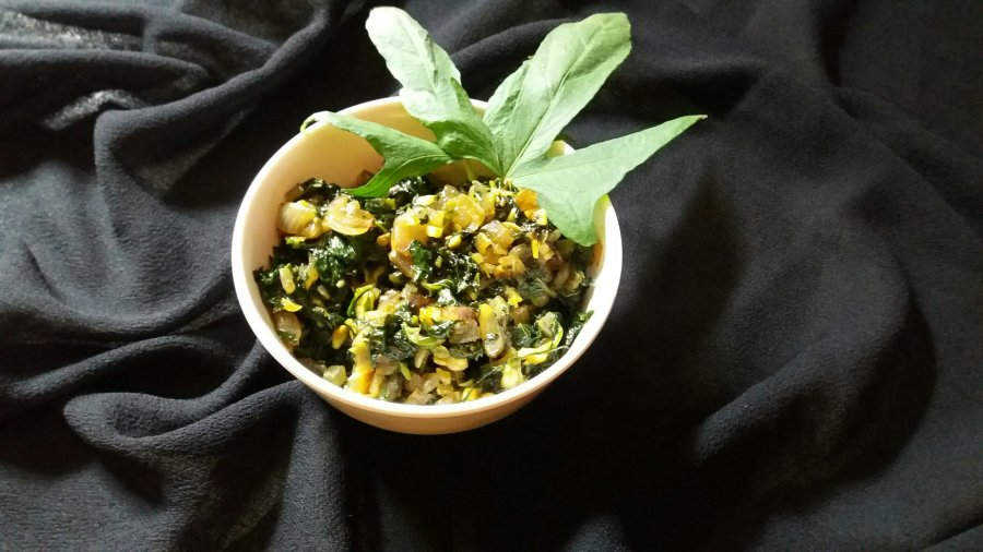 Rataloo ke patte ki sabzi/sweet potato leaves bhaji/ How to make sabzi from sweet potato leaves