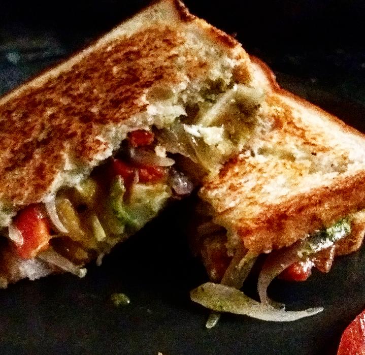 Aloo masala  sandwich/How to make spicy potatosandwich
