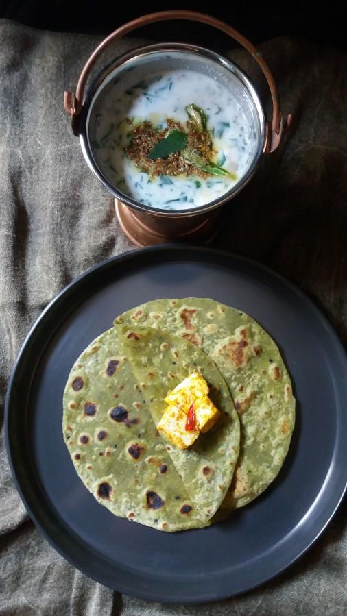 Palak paratha/spinach flat bread/ How to make palak kiroti