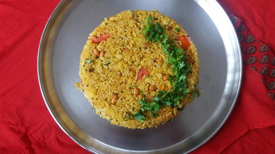 Baghara Bhaat/Fried masalarice